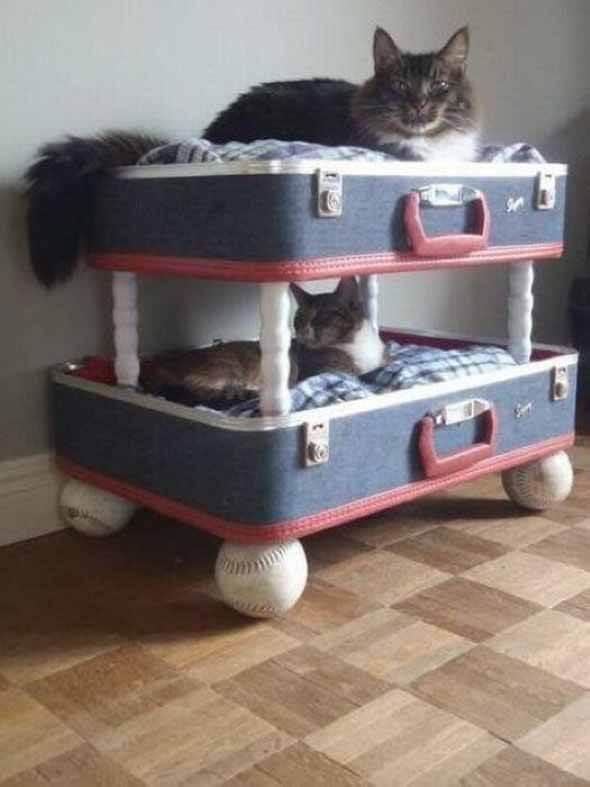 Aprenda a fazer uma cama artesanal para seu gatinho 005