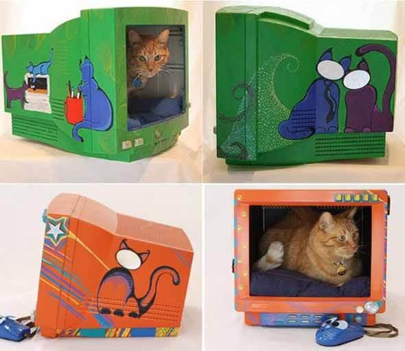 Aprenda a fazer uma cama artesanal para seu gatinho 008