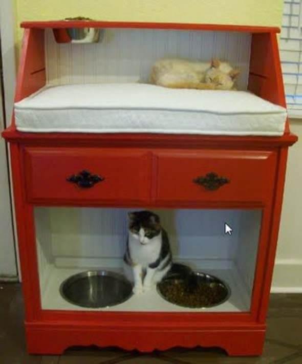 Aprenda a fazer uma cama artesanal para seu gatinho 009