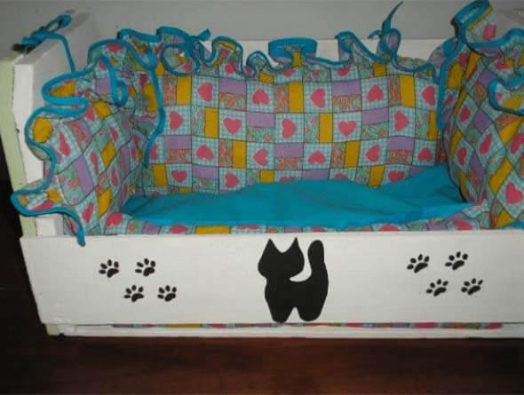 Aprenda a fazer uma cama artesanal para seu gatinho 012