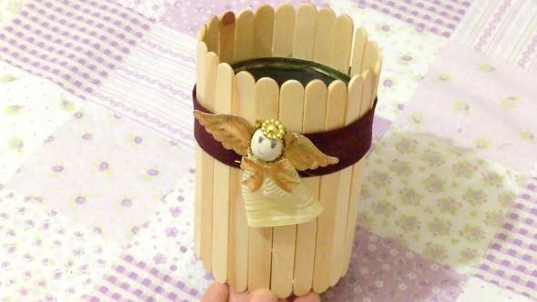 Criatividade no artesanato com palitos 013