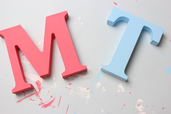 Letras artesanais de MDF 003