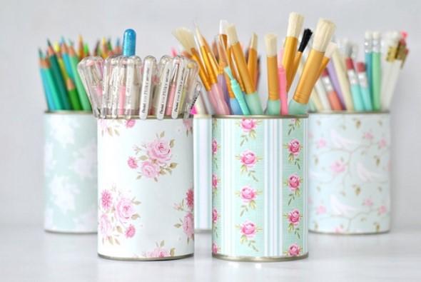 Porta-lápis com material reciclável 004