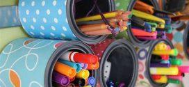 Monte um prático porta-lápis com material reciclável