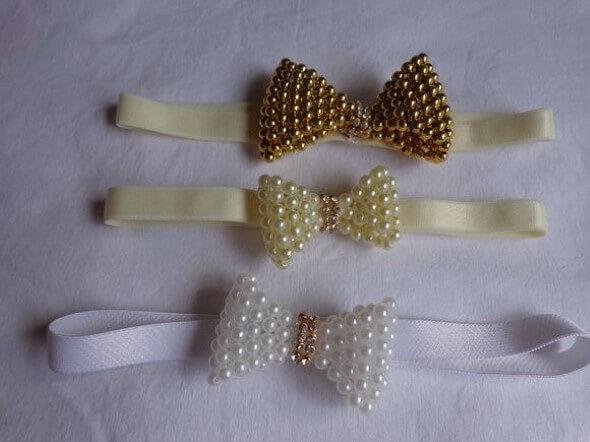 Tiara artesanal para bebês 003