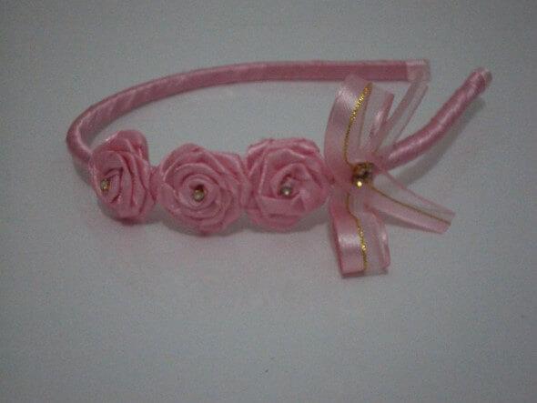 Tiara artesanal para bebês 008