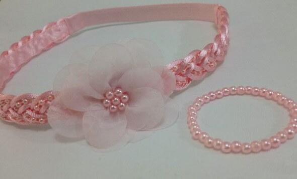 Tiara artesanal para bebês 012