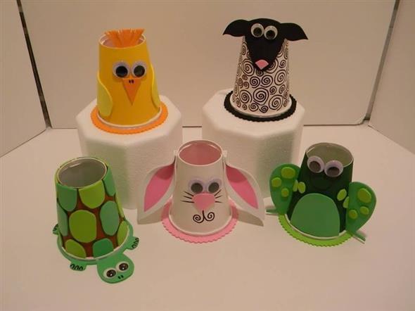 DIY – Como fazer arte com copos descartáveis 012