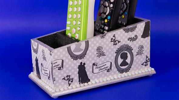 Porta controle remoto artesanal 012