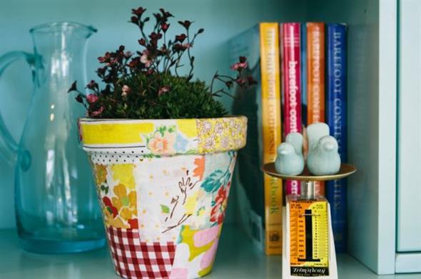 Vasos decorados com artesanato 003