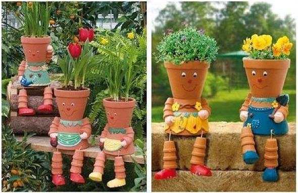 Vasos decorados com artesanato 014