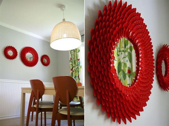 Artesanato criativo com colheres de plástico 001