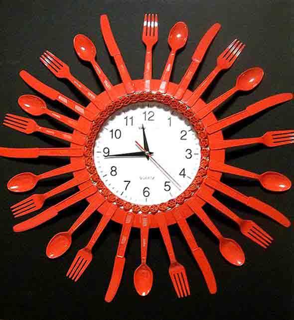 Artesanato criativo com colheres de plástico 010