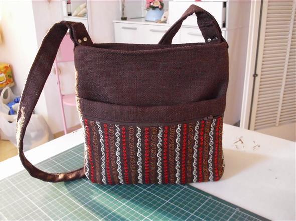 Bolsinha de tecido artesanal 008