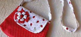 Bolsinha de tecido artesanal – Aprenda a fazer em casa