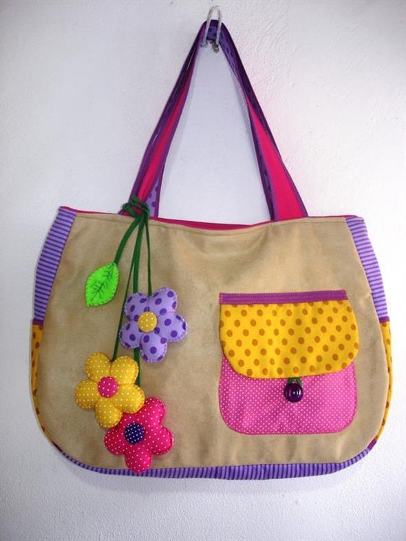 Bolsinha de tecido artesanal 014