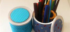 Como fazer arte com latas de achocolatado e leite em pó