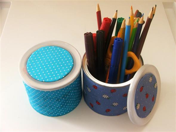 Como fazer arte com latas 001