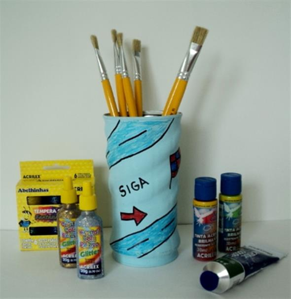 Como fazer arte com latas 008