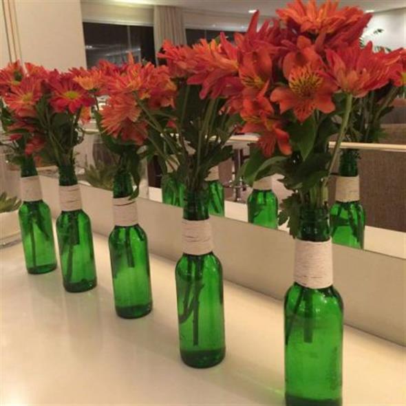 Enfeitar garrafas com linha, sisal e barbante 014
