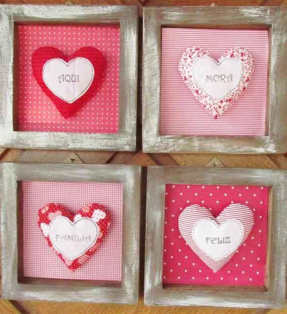 Modelos de corações artesanais 012