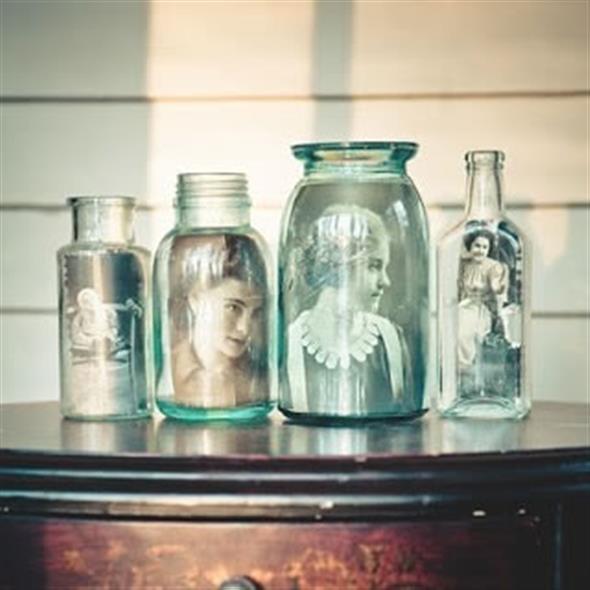 Porta-retrato em pote de vidro 004