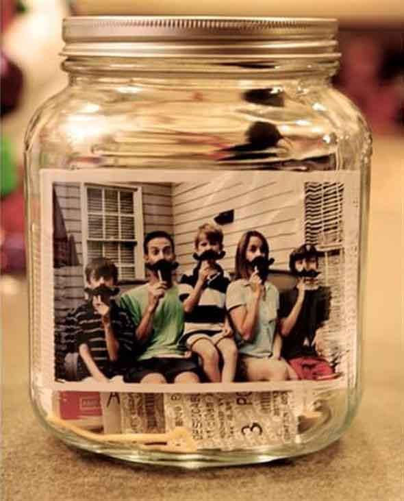 Porta-retrato em pote de vidro 015