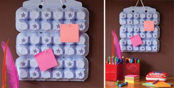 Reciclando caixas de ovo 008