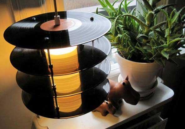 Como fazer arte com discos de vinil 001