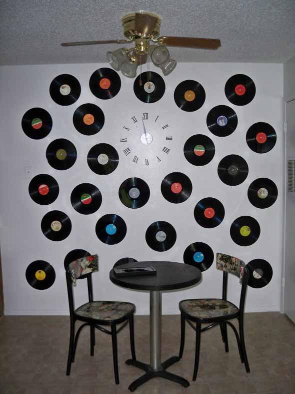 Como fazer arte com discos de vinil 008