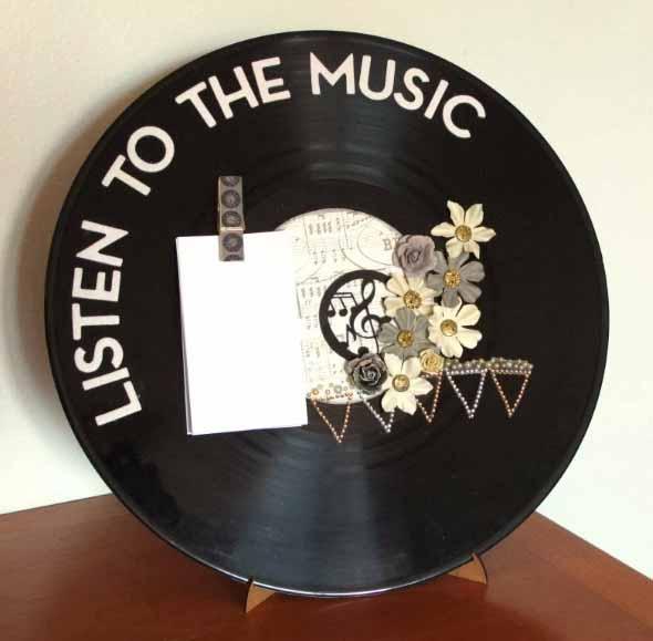 Como fazer arte com discos de vinil 013