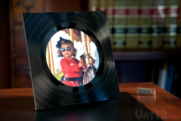 Como fazer arte com discos de vinil 016