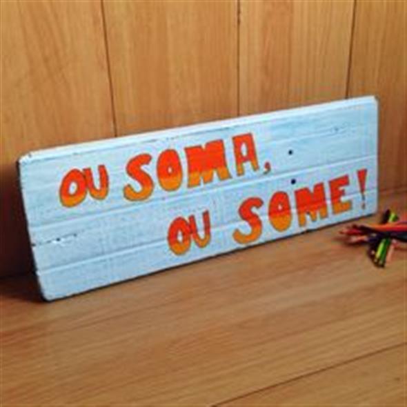 Como fazer uma plaquinha rústica de madeira 010