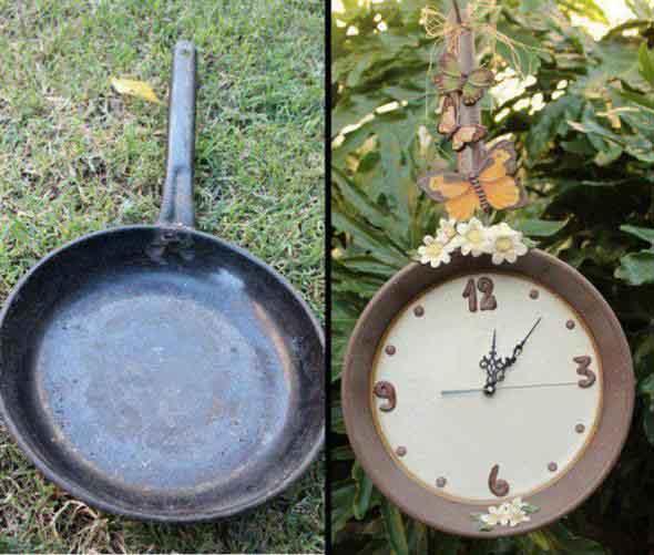 Relógio artesanal criativo 003