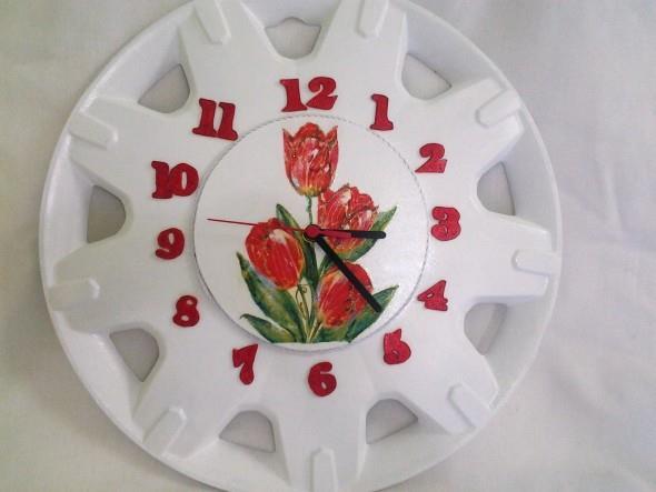 Relógio artesanal criativo 006