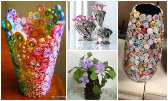 Aparador Cocina Conforama ~ Ideias de artesanato e reciclagem com jornais e revistas