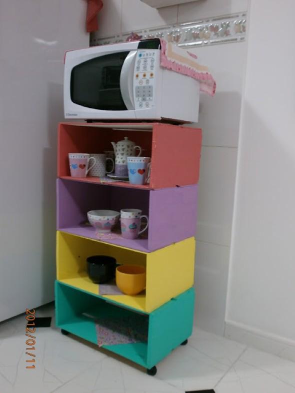Armário de caixote para cozinha Saiba como fazer