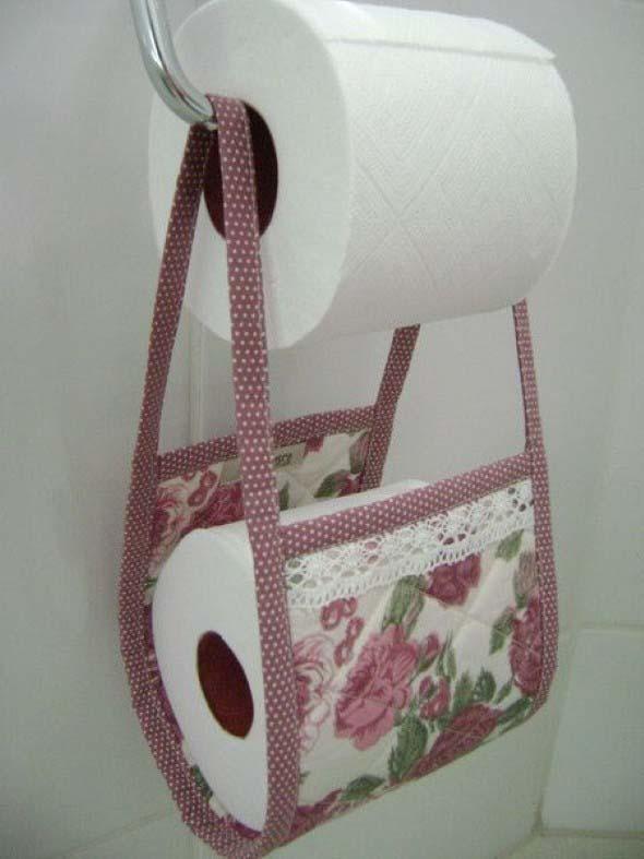 Porta papel higi nico de tecido aprenda como fazer for Portarrollos wc