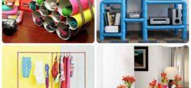 Imagens de artesanato com canos de PVC