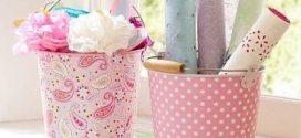 Aprenda a reutilizar baldes com artesanato