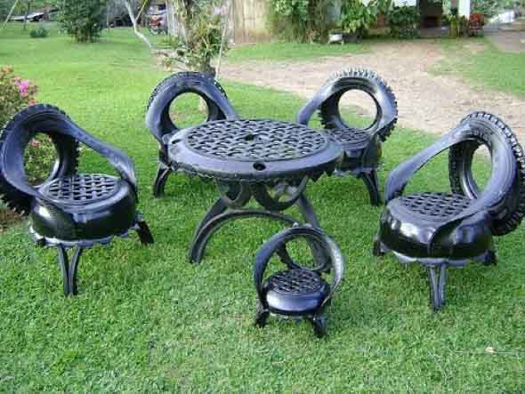 Dicas Para Fazer Artesanato De Jardim Com Pneus