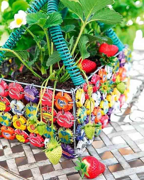 Novas ideias para usar tampinhas de garrafas - Como empezar un jardin ...