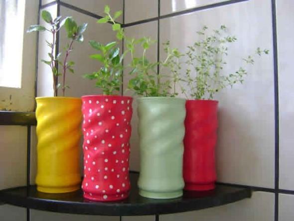 Armario Escritorio Com Chave ~ Como transformar latas em vasos com artesanato