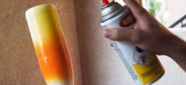 Ideias de artesanato criativo com tinta spray