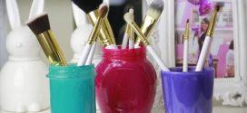 Porta pincel de maquiagem artesanal – Aprenda a fazer