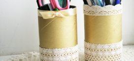 Recicle rolinhos de papel com artesanato