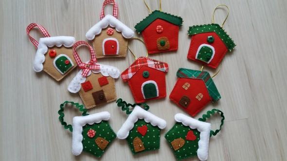 Artesanato Em Feltro Para O Natal ~ DIY Enfeites natalinos Como fazer em casa