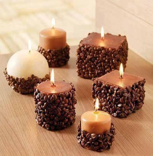 Ideias para mesclar velas e artesanato for Decorar jarrones con velas