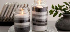 Ideias para mesclar velas e artesanato