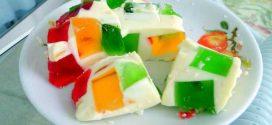Receita de gelatina colorida e gelatina mosaico